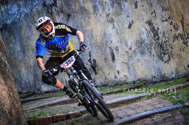 Simone Darico durante il Prologo del sabato (Sestri Levante 2013) (Guidi Rosas Bike Team)