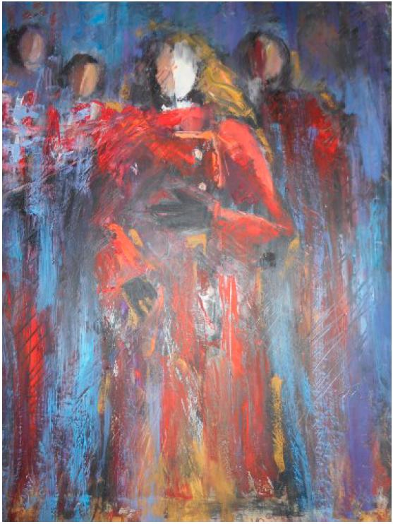 Personaggi dalla Mostra Visioni di Maria Teresa Pascarelli