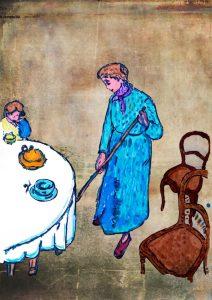 La domestica – di Camille Pissarro 🍏 Ri-visto da Suor Rosetta