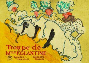 La troupe de M.lle Eglantine – di Henri de Toulouse Lautrec 🍏 Ri-visto da Antonietta