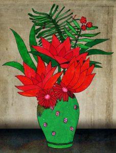 Vaso di fiori – di Henri Rousseau 🍏 Ri-visto da Celestina