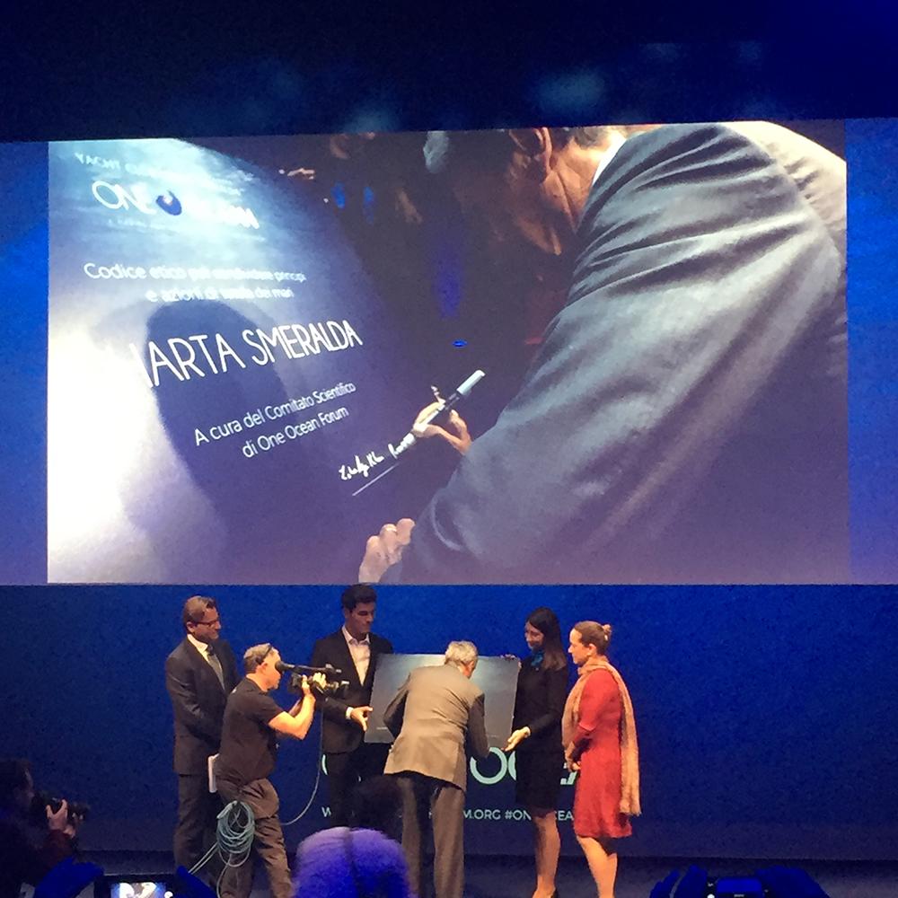 One Ocean Forum - La firma del Commodoro dello Yacht Club Costa Smeralda, Riccardo Bonadeo