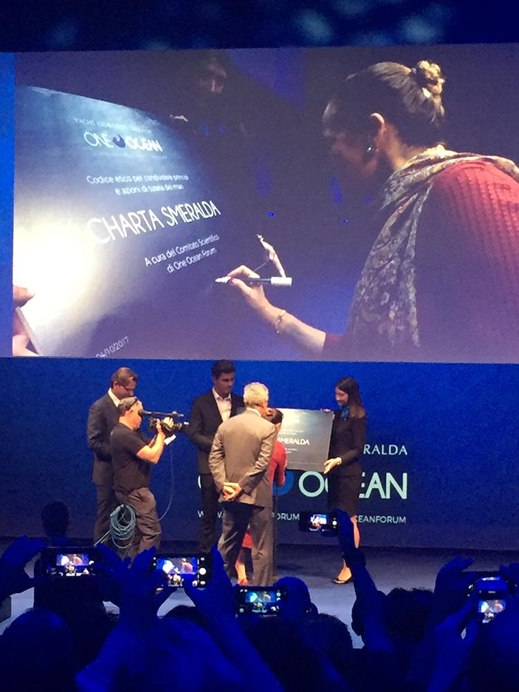 One Ocean Forum - La firma della Principessa Zahra Aga Khan