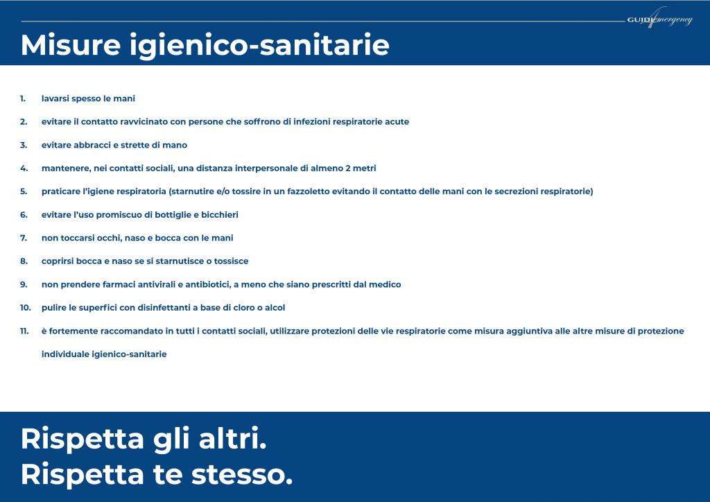 Misure igienico sanitarie
